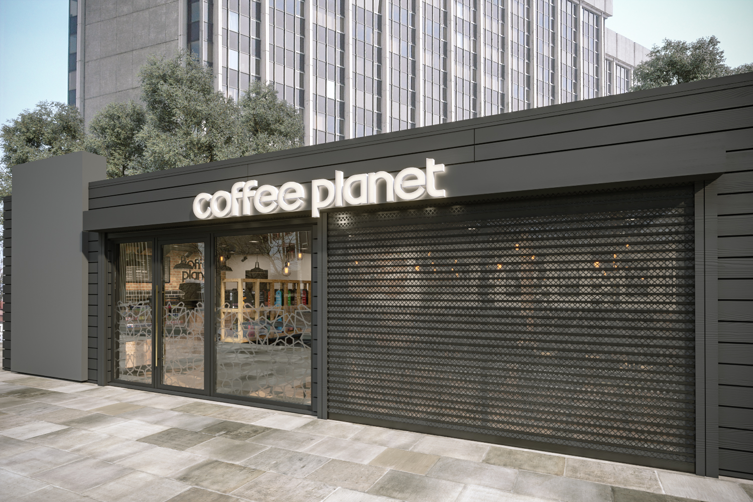Coffee Planet Day Time Render